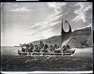 Outrigger sailing canoe